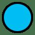 🔵 blue circle Emoji on Windows Platform