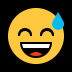 😅 grinning face with sweat Emoji on Windows Platform