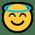 😇 smiling face with halo Emoji on Windows Platform
