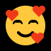 🥰 smiling face with hearts Emoji on Windows Platform