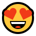 😍 smiling face with heart-eyes Emoji on Windows Platform