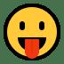 😛 face with tongue Emoji on Windows Platform