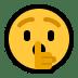 🤫 shushing face Emoji on Windows Platform