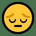 😔 Nachdenkliches Gesicht Emoji auf Windows-Plattform