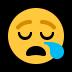 😪 sleepy face Emoji on Windows Platform