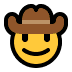 🤠 cowboy hat face Emoji on Windows Platform