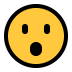😮 face with open mouth Emoji on Windows Platform