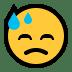 😓 downcast face with sweat Emoji on Windows Platform