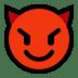 😈 Lächelndes Gesicht mit Hörnern Emoji auf Windows-Plattform