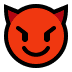 😈 Lachend Gezicht Met Hoorns Emoji op Windows Platform