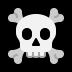 ☠️ skull and crossbones Emoji on Windows Platform