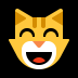 😸 grinning cat with smiling eyes Emoji on Windows Platform