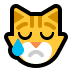 😿 Crying Cat Emoji on Windows Platform