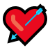 💘 heart with arrow Emoji on Windows Platform