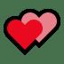 💕 two hearts Emoji on Windows Platform