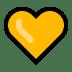 💛 Geel Hart Emoji op Windows Platform