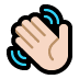 👋🏻 waving hand: light skin tone Emoji on Windows Platform