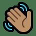 👋🏽 waving hand: medium skin tone Emoji on Windows Platform