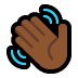 👋🏾 Medium-Dark Skin Tone Waving Hand Emoji on Windows Platform