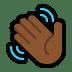 👋🏾 waving hand: medium-dark skin tone Emoji on Windows Platform