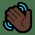 👋🏿 waving hand: dark skin tone Emoji on Windows Platform