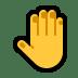 🤚 raised back of hand Emoji on Windows Platform