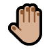 🤚🏼 raised back of hand: medium-light skin tone Emoji on Windows Platform