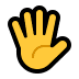 🖐️ hand with fingers splayed Emoji on Windows Platform