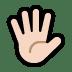 🖐🏻 hand with fingers splayed: light skin tone Emoji on Windows Platform