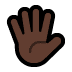 🖐🏿 hand with fingers splayed: dark skin tone Emoji on Windows Platform