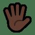 🖐🏿 Dark Skin Tone Hand With Fingers Splayed Emoji on Windows Platform