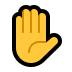 ✋ raised hand Emoji on Windows Platform