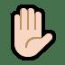 ✋🏻 raised hand: light skin tone Emoji on Windows Platform