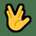 🖖 vulcan salute Emoji on Windows Platform