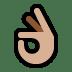 👌🏼 Medium-Light Skin Tone OK Hand Emoji on Windows Platform