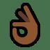 👌🏾 OK hand: medium-dark skin tone Emoji on Windows Platform