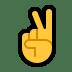 ✌️ victory hand Emoji on Windows Platform