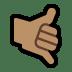 🤙🏽 call me hand: medium skin tone Emoji on Windows Platform