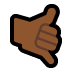 🤙🏾 call me hand: medium-dark skin tone Emoji on Windows Platform