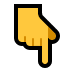 👇 backhand index pointing down Emoji on Windows Platform