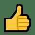 👍 Daumen hoch Emoji auf Windows-Plattform