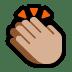 👏🏼 clapping hands: medium-light skin tone Emoji on Windows Platform