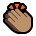 👏🏽 clapping hands: medium skin tone Emoji on Windows Platform