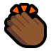 👏🏾 clapping hands: medium-dark skin tone Emoji on Windows Platform