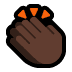 👏🏿 clapping hands: dark skin tone Emoji on Windows Platform