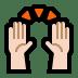 🙌🏻 raising hands: light skin tone Emoji on Windows Platform