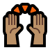 🙌🏽 raising hands: medium skin tone Emoji on Windows Platform