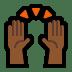 🙌🏾 raising hands: medium-dark skin tone Emoji on Windows Platform