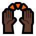 🙌🏿 raising hands: dark skin tone Emoji on Windows Platform