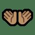 👐🏽 Medium Skin Tone Open Hands Emoji on Windows Platform
